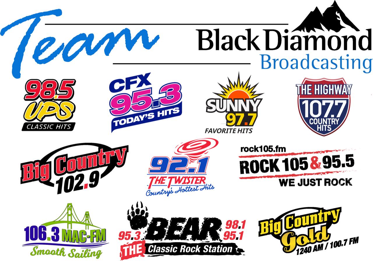 Team Black Diamond Broadcasting radio stations logo